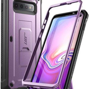 Supcase Purple Galaxy S10 Plus Case with Holster
